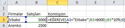 Eğer ve VE Fonksiyonlarının Birlikte Kullanımı (2/2)