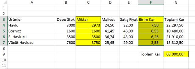 Excel Çözücü