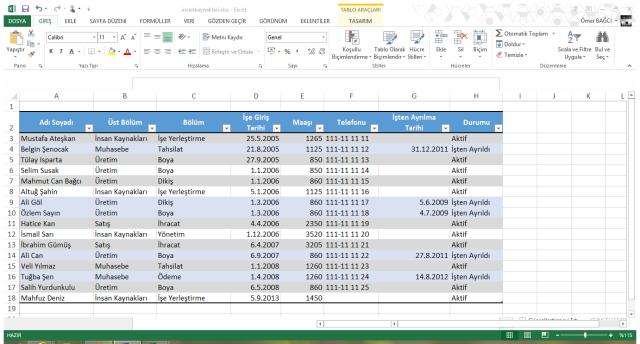 vidoport.com Excel Özet Tablo Eğitimleri