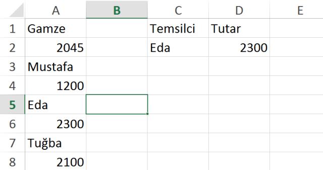 Excel vidoport.com indis ve kaçıncı işlevleri