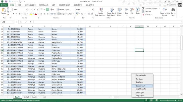Excel Bilinmeyenleri-vidoport.com
