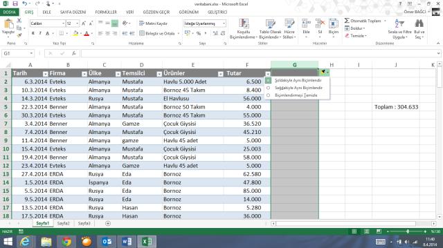 Excel Bilinmeyenler-Ömer BAĞCI-Vidoport.com