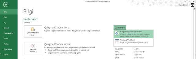 Ömer BAĞCI - İleri Excel Eğitimleri
