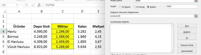 Excel'de Çözücüyü Kullanmak - Ömer BAĞCI