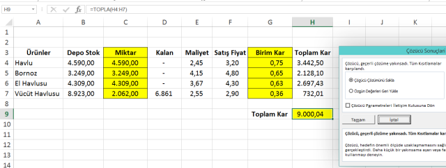 Ömer BAĞCI ile Excel'de Çözücü