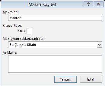 Excel'de Makro Oluşturma, Excel'de Makroların Kullanımı