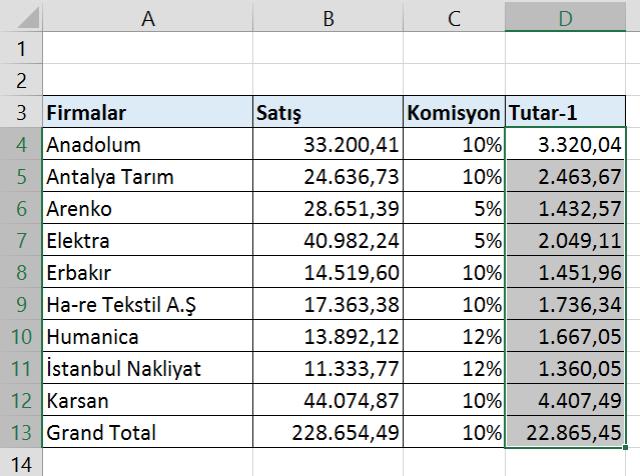 Excel'de dizi nedir ?- Ne Amaçla Kullanılır..