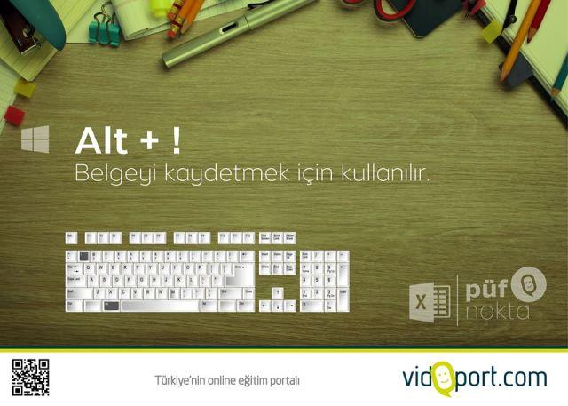 Excel_kisayollar_Kaydetme