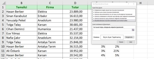Excel koşulu Biçimlendirme-4 vidoport.com.png