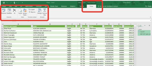 Excel'de Al ve Dönüştür Özelliğini Kullanmak vidoport