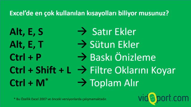 Excel'de en çok kullanılan 5 kısayol.. vidoport.png