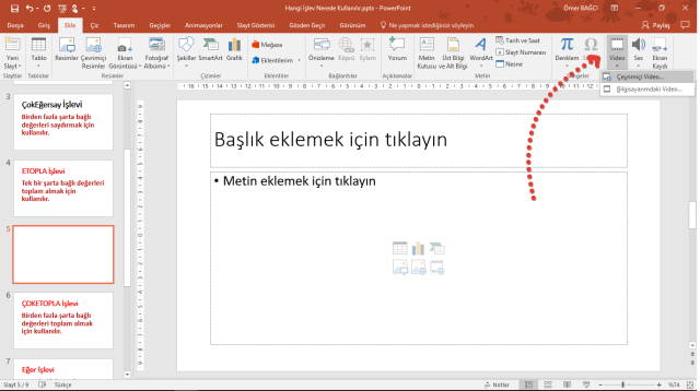 Powerpoint video ekleme-vidoport.png