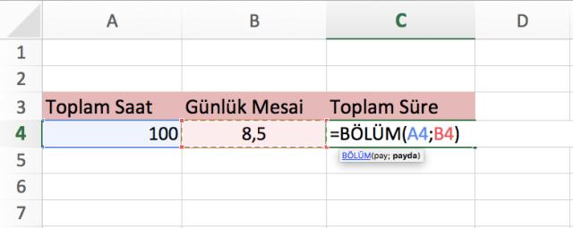 Excel de saat hesabı vidoport.png