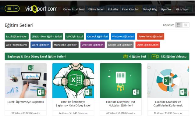 vidoport.com Excel öğrenmeye başlamak eğitim seti.png