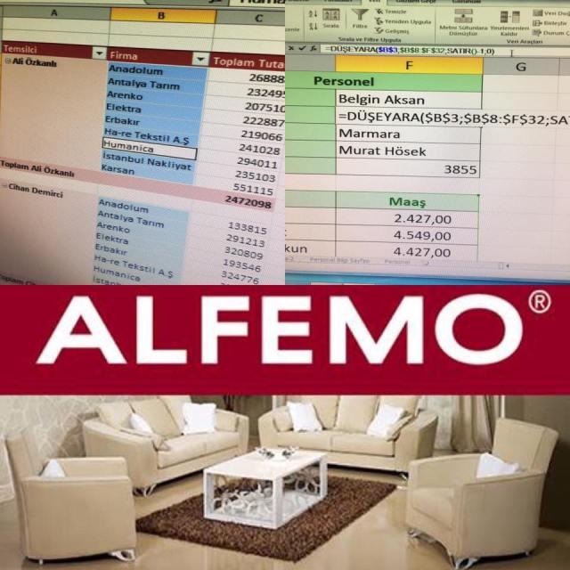 AlfemoMobilya ileri duzey Excel egitimi-Omer BAGCI-vidoport