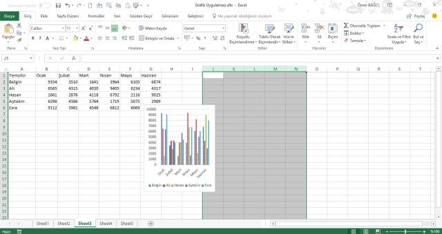 Excel Grafikleri ile çalışmak