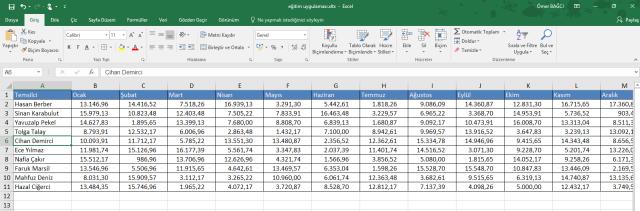 Excel'in Al ve Dönüştür Özelliğinin Kullanılması