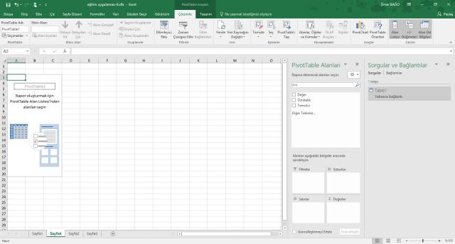 Excel'de Al ve Dönüştür Özelliğinin Kullanılması