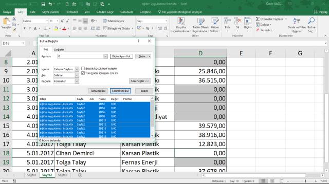 online Excel eğitimi vidoport.com