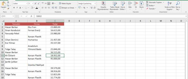 Excel'de boş hücreleri otomatik olarak doldurmak-vidoport